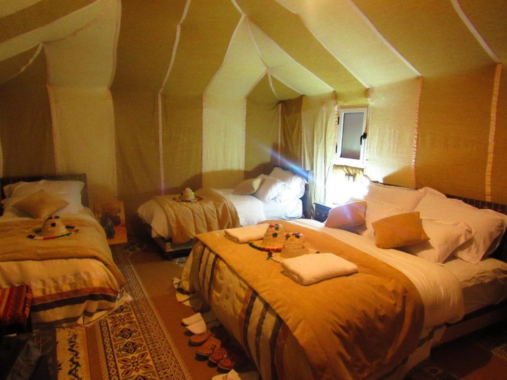 Um noite no deserto do Saara no Sahara Majestic Luxury Camp