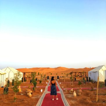 Uma noite no deserto do Saara no Sahara Majestic Luxury Camp