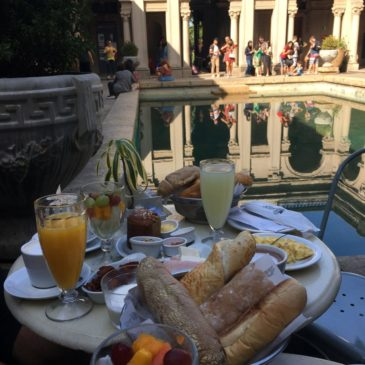 Café da manhã no Parque Lage, no Jardim Botânico