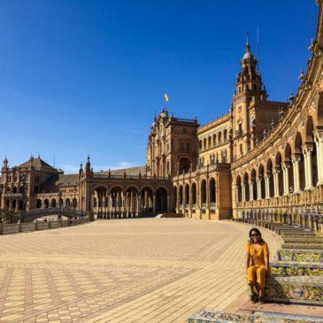 A maravilhosa Praça de Espanha de Sevilha
