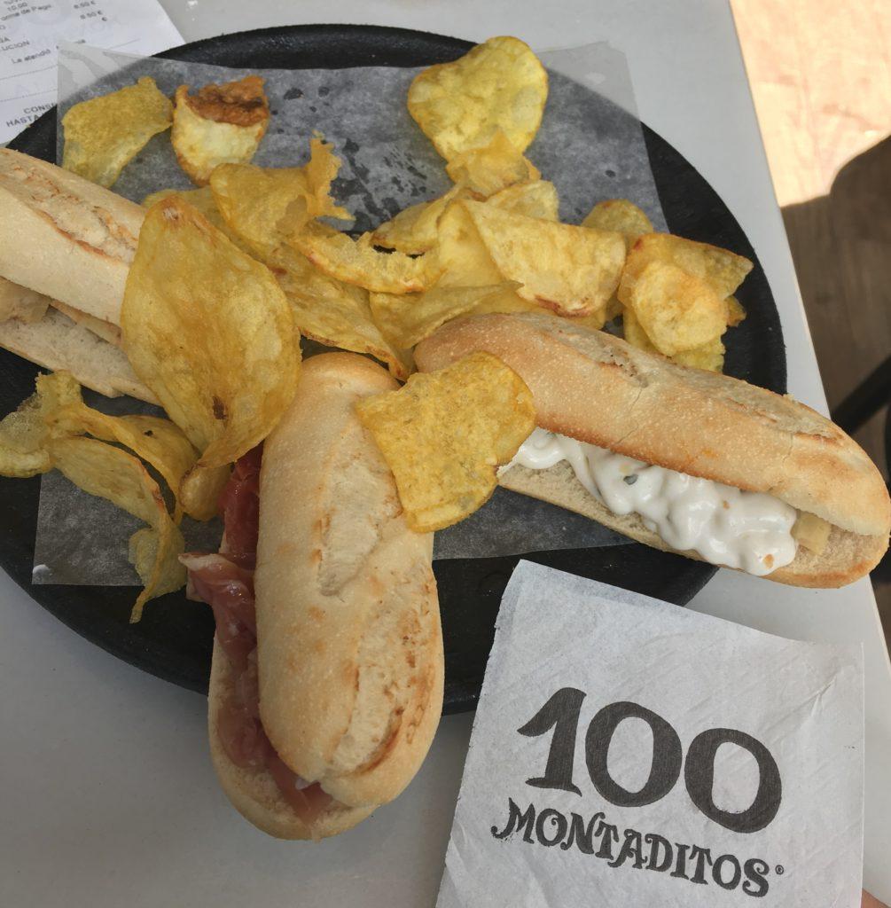 Onde comer em Sevilha: 100 montaditos