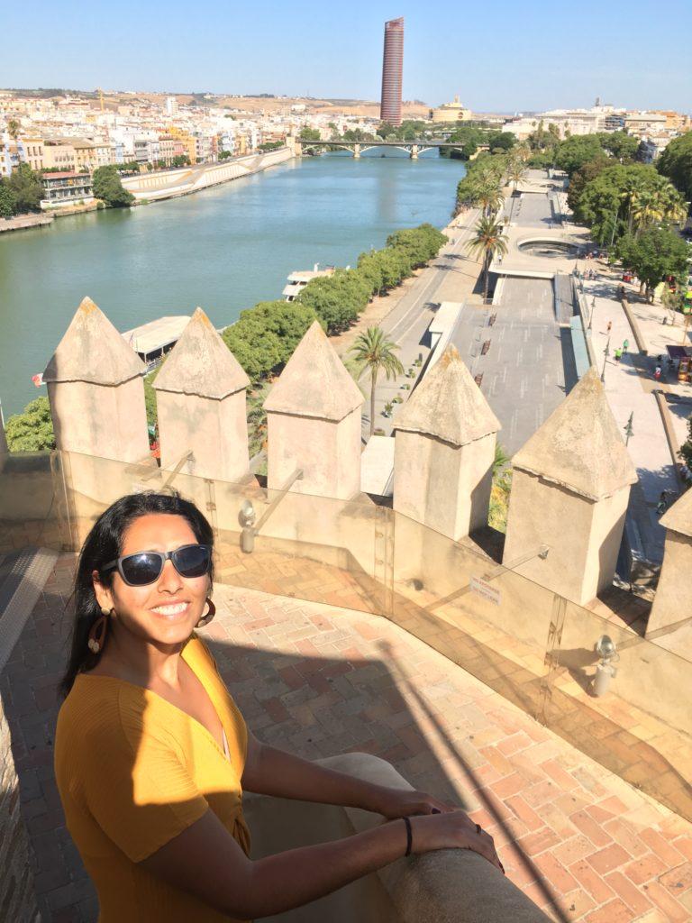 Vista a partir do terraço da Torre del Oro, em Sevilha