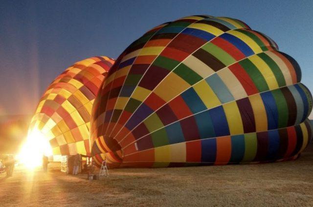 Preparação do balão no Bill Harrop's Balloon