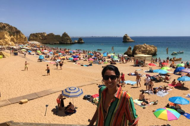 Praia Dona Ana no Algarve