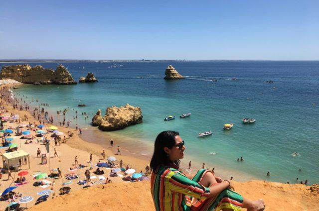 Mirante na Praia Dona Ana no Algarve
